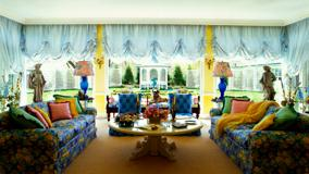Colorful Sofa Set And Interior in Lawn